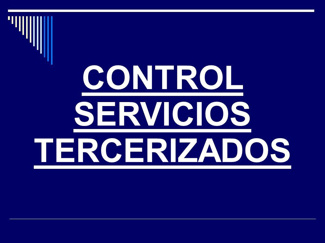 CONTROL SERVICIOS TERCERIZADOS