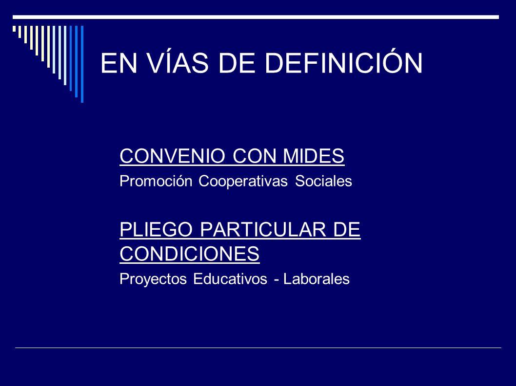 EN VÍAS DE DEFINICIÓN CONVENIO CON MIDES
