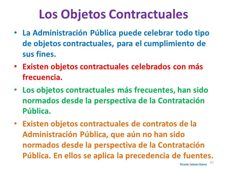 Los Objetos Contractuales