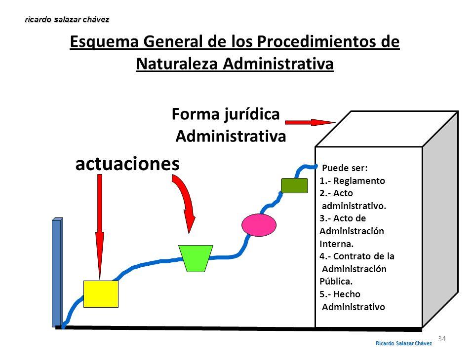 Esquema General de los Procedimientos de Naturaleza Administrativa