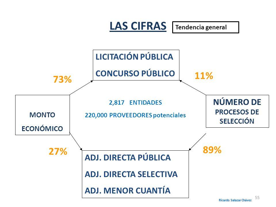 LAS CIFRAS 11% 73% 89% 27% LICITACIÓN PÚBLICA CONCURSO PÚBLICO