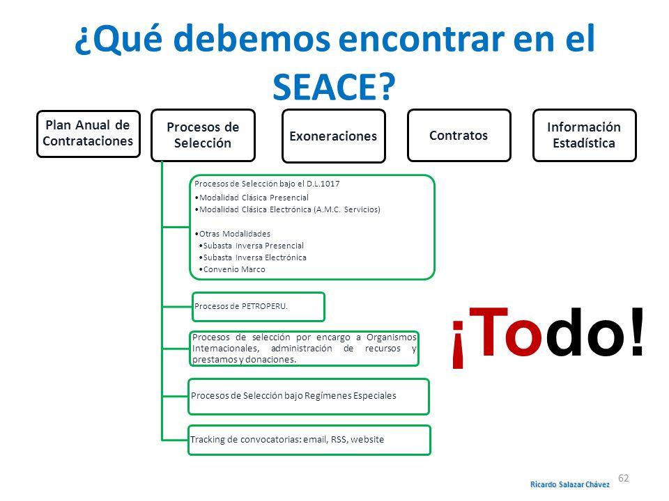 ¿Qué debemos encontrar en el SEACE