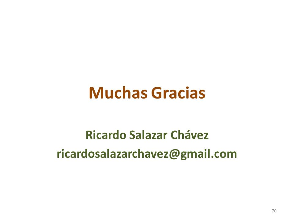 Ricardo Salazar Chávez ricardosalazarchavez@gmail.com