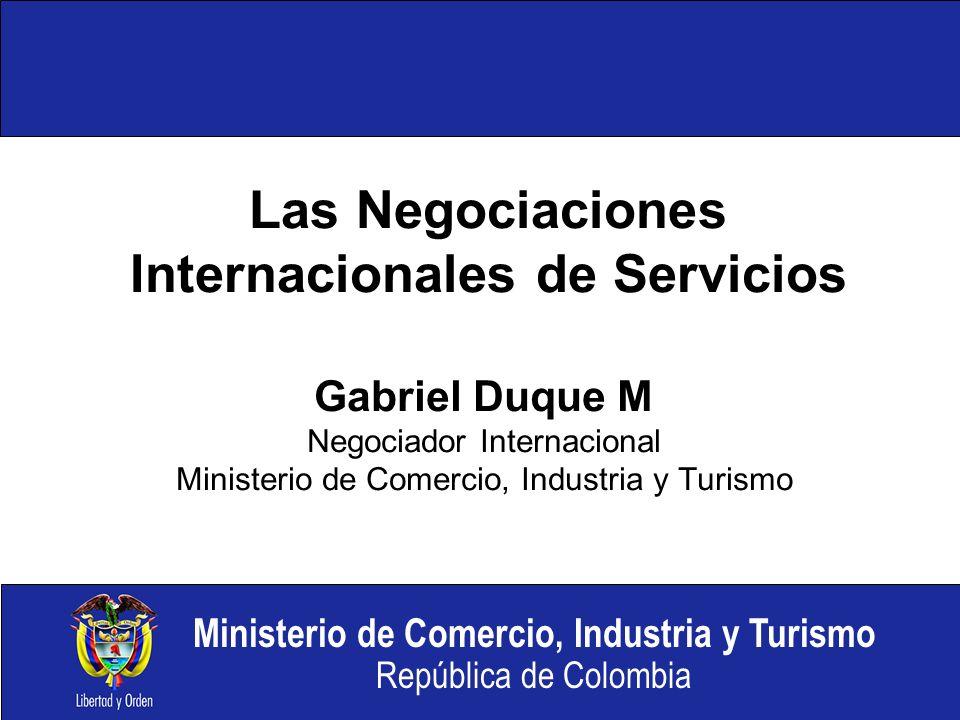 Las Negociaciones Internacionales de Servicios