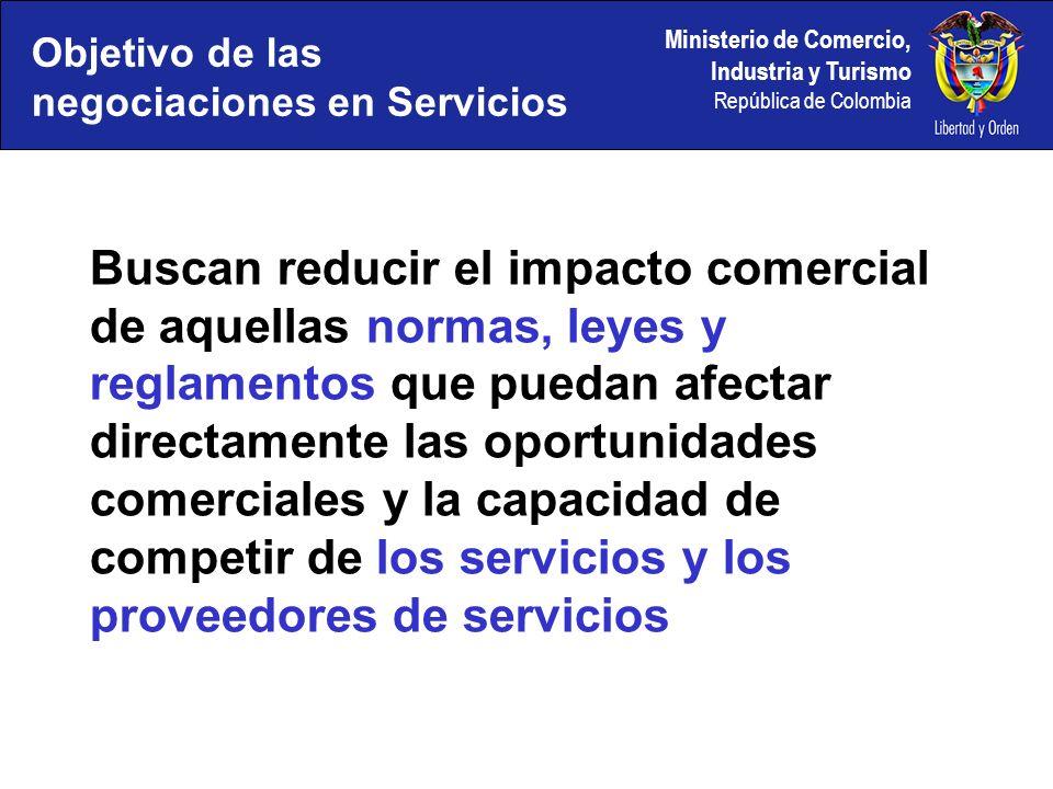 Objetivo de las negociaciones en Servicios