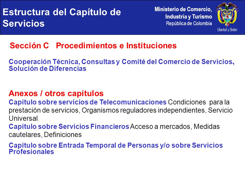 Estructura del Capítulo de Servicios