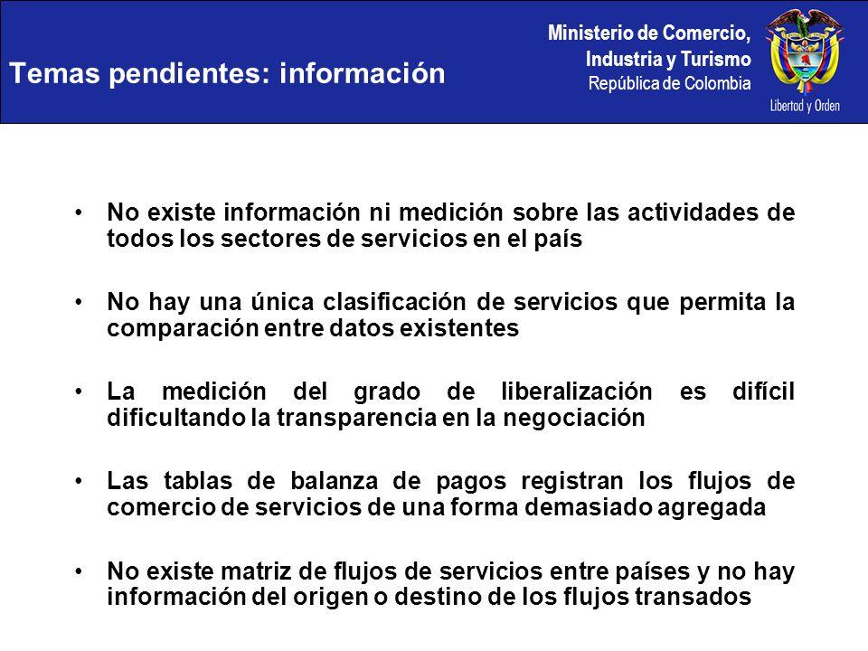 Temas pendientes: información