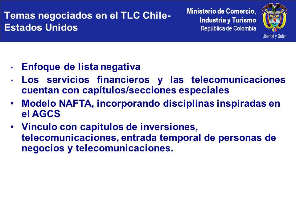 Temas negociados en el TLC Chile-Estados Unidos