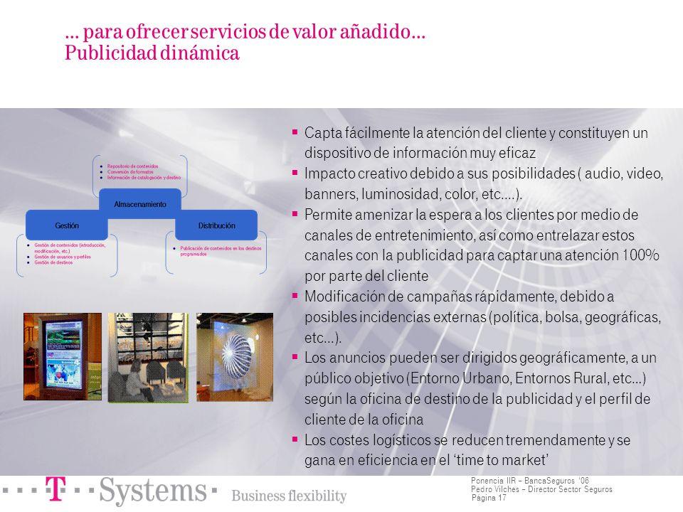 … para ofrecer servicios de valor añadido… Publicidad dinámica