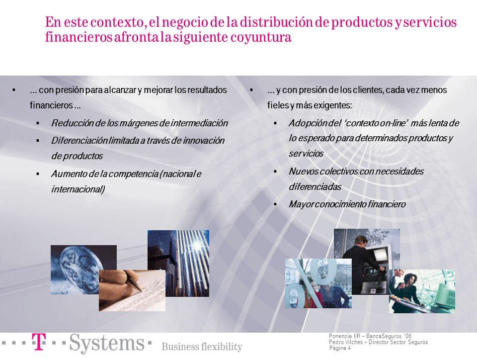 En este contexto, el negocio de la distribución de productos y servicios financieros afronta la siguiente coyuntura