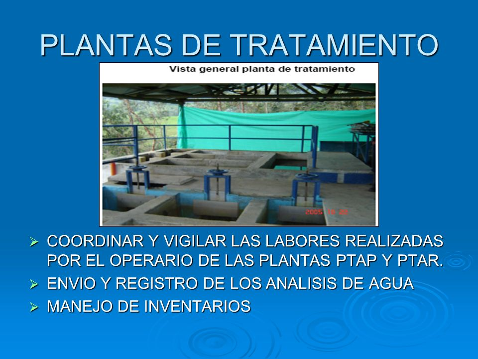 PLANTAS DE TRATAMIENTO