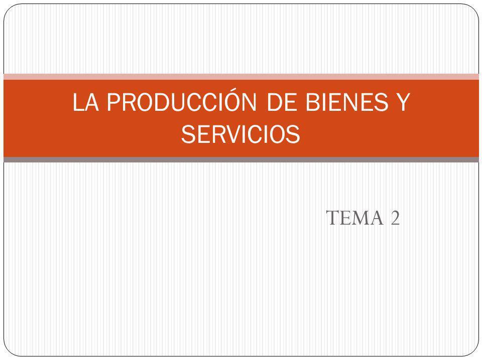 LA PRODUCCIÓN DE BIENES Y SERVICIOS