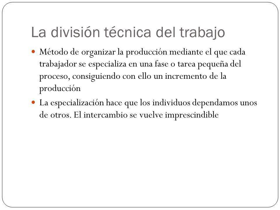 La división técnica del trabajo