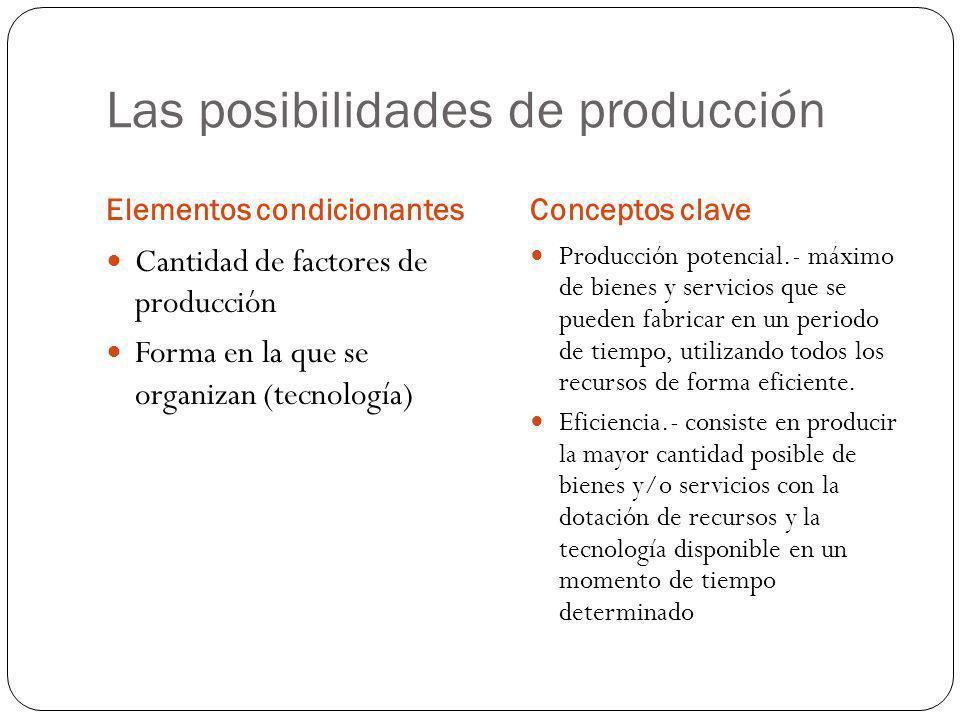 Las posibilidades de producción