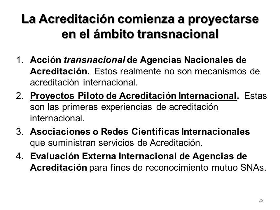 La Acreditación comienza a proyectarse en el ámbito transnacional