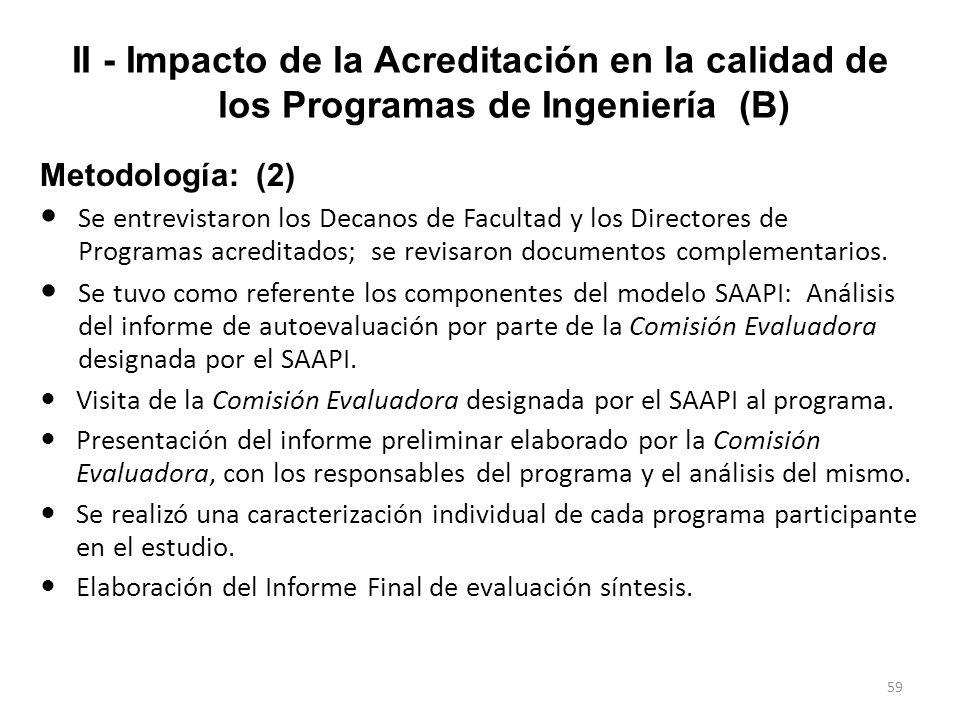 II - Impacto de la Acreditación en la calidad de los Programas de Ingeniería (B)