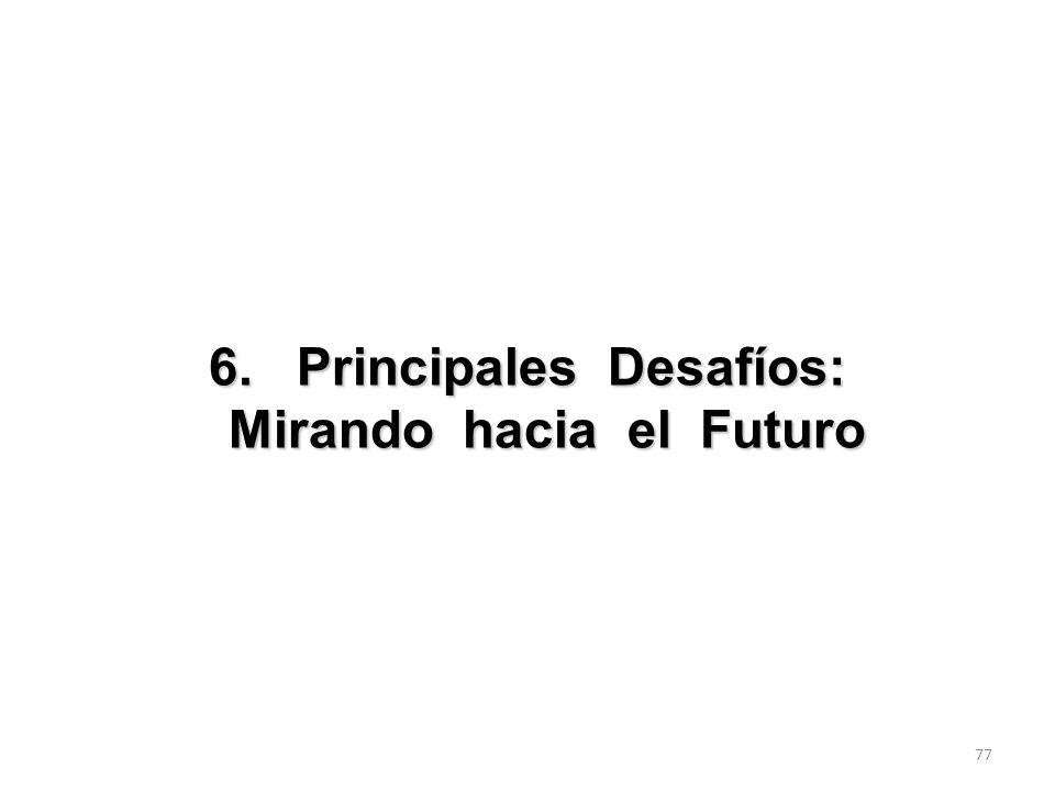 6. Principales Desafíos: Mirando hacia el Futuro