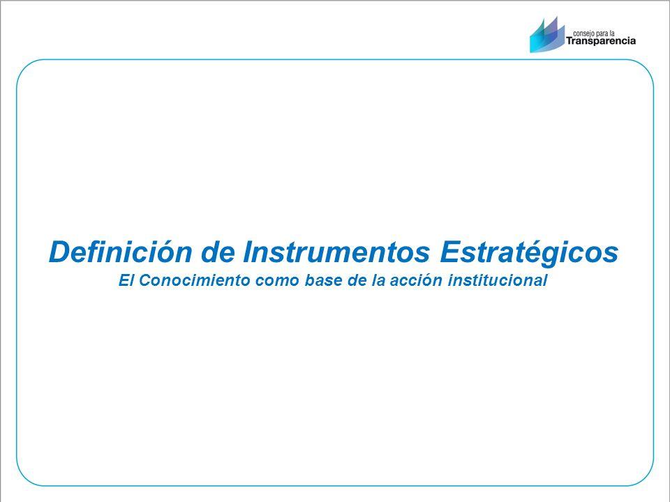 Definición de Instrumentos Estratégicos