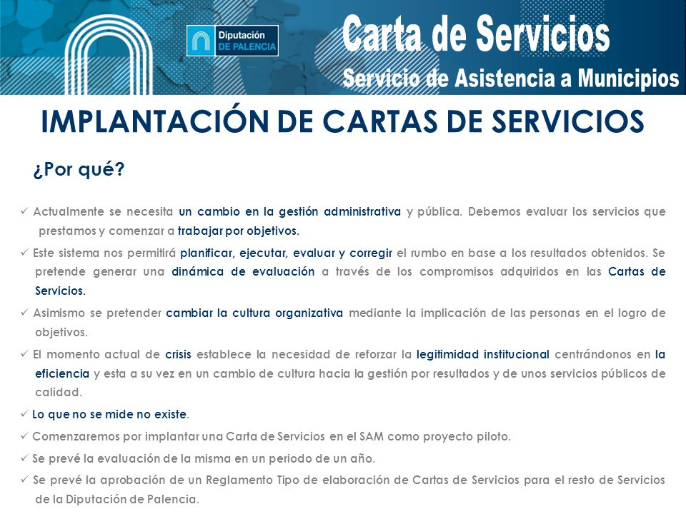 IMPLANTACIÓN DE CARTAS DE SERVICIOS