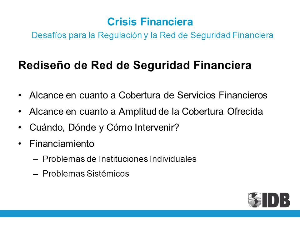 Rediseño de Red de Seguridad Financiera