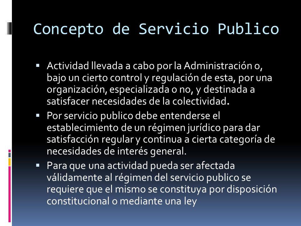 Concepto de Servicio Publico