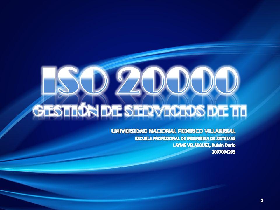 ISO 20000 GESTIÓN DE SERVICIOS DE TI
