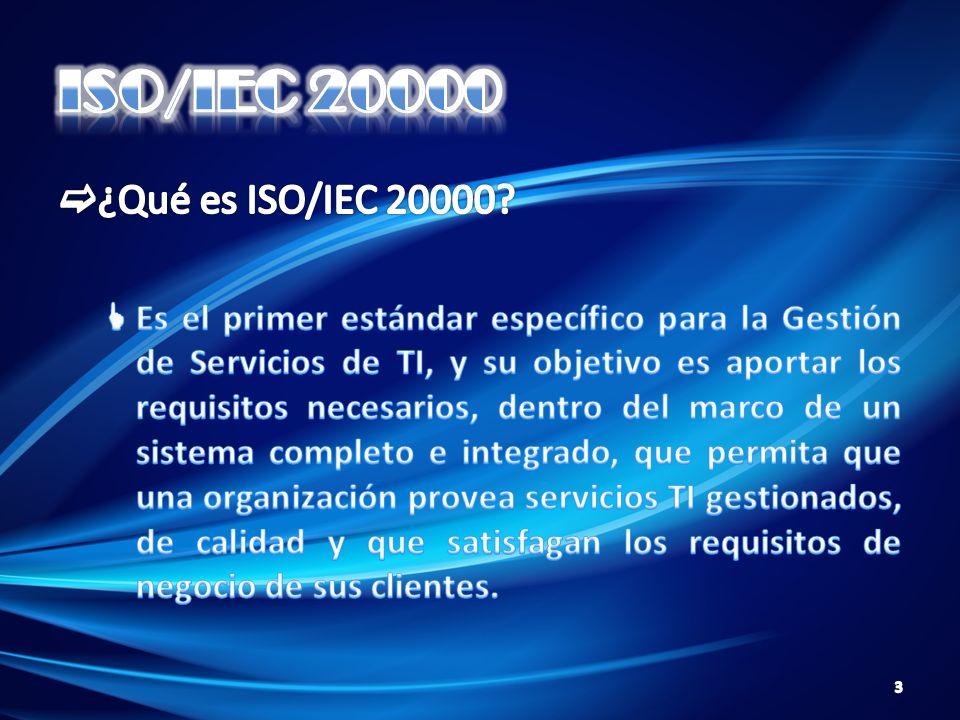 ISO/IEC 20000 ¿Qué es ISO/IEC 20000