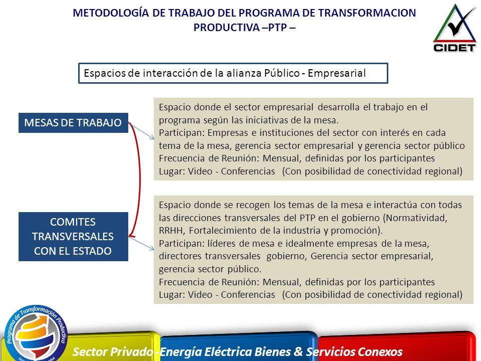 COMITES TRANSVERSALES CON EL ESTADO
