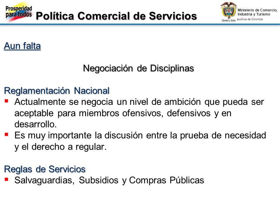 Política Comercial de Servicios