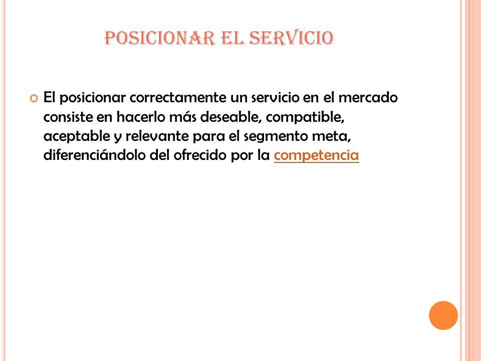 POSICIONAR EL SERVICIO