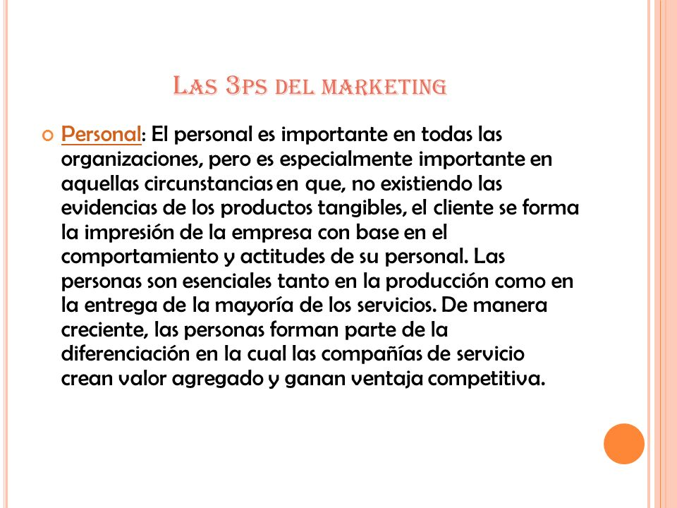 Las 3ps del marketing