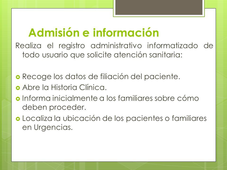 Admisión e información