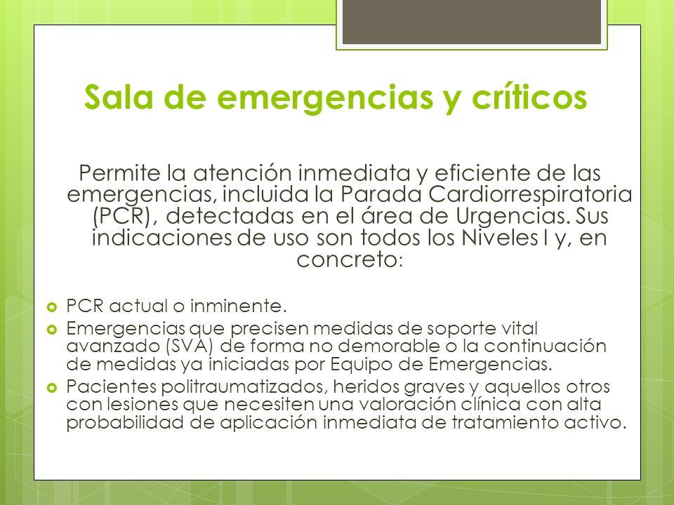 Sala de emergencias y críticos