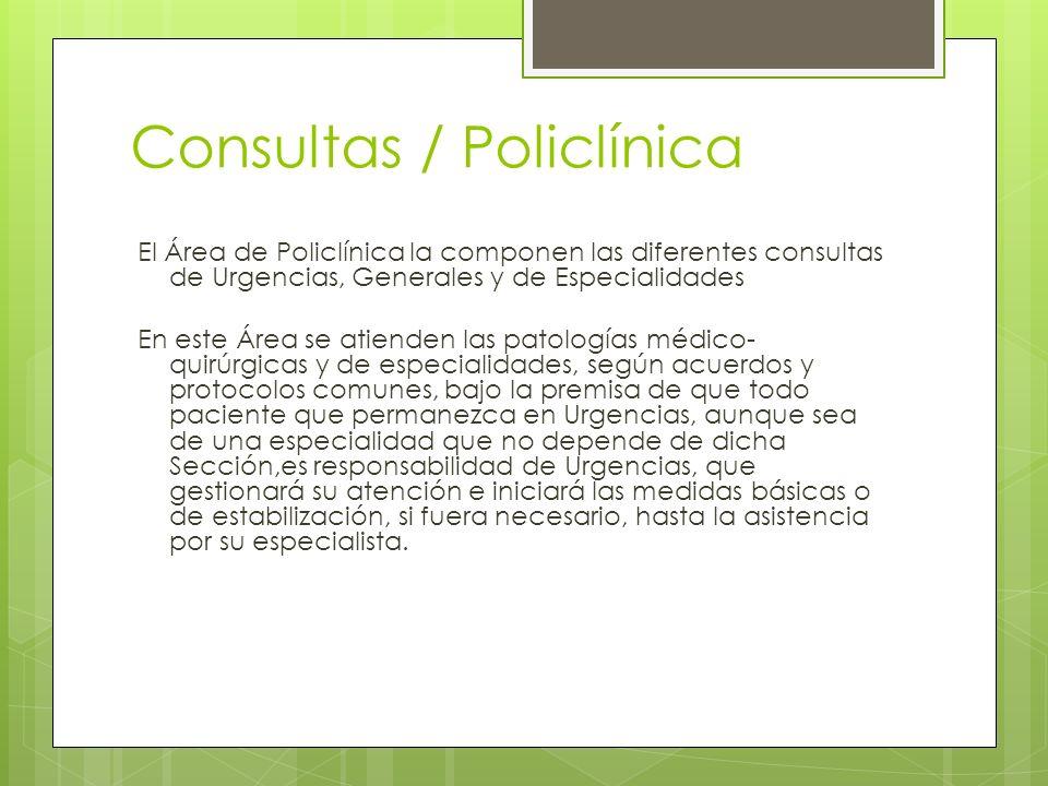 Consultas / Policlínica