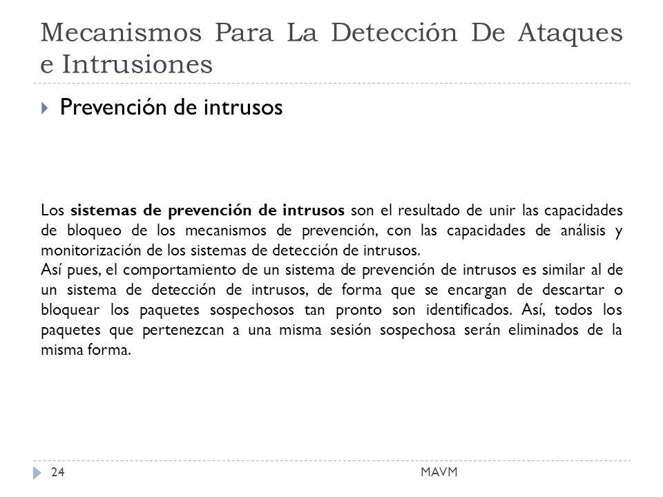 Mecanismos Para La Detección De Ataques e Intrusiones