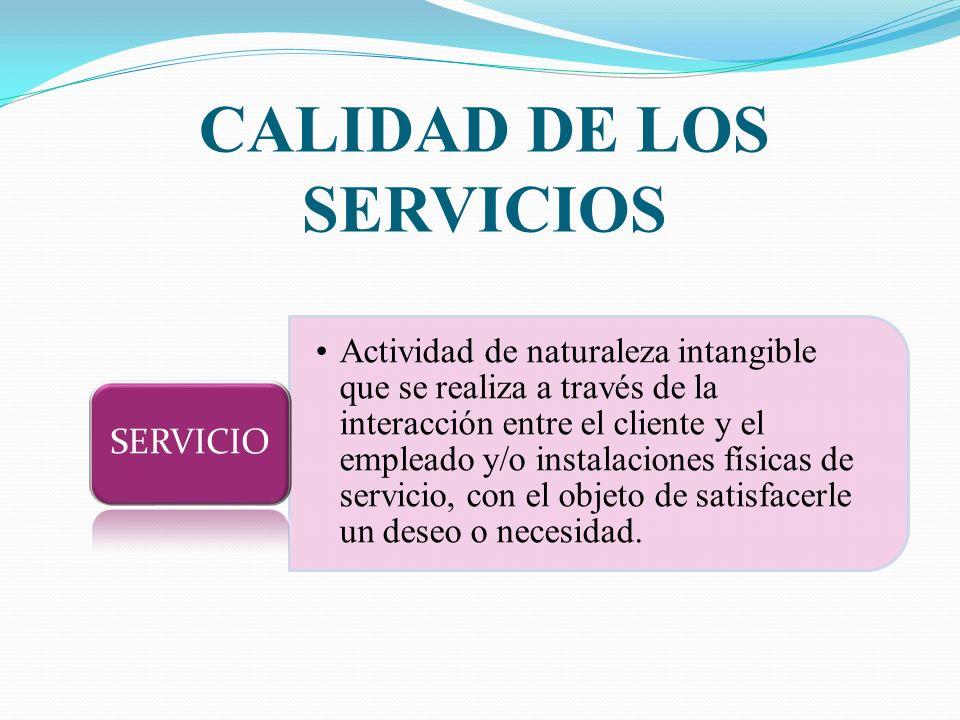 CALIDAD DE LOS SERVICIOS