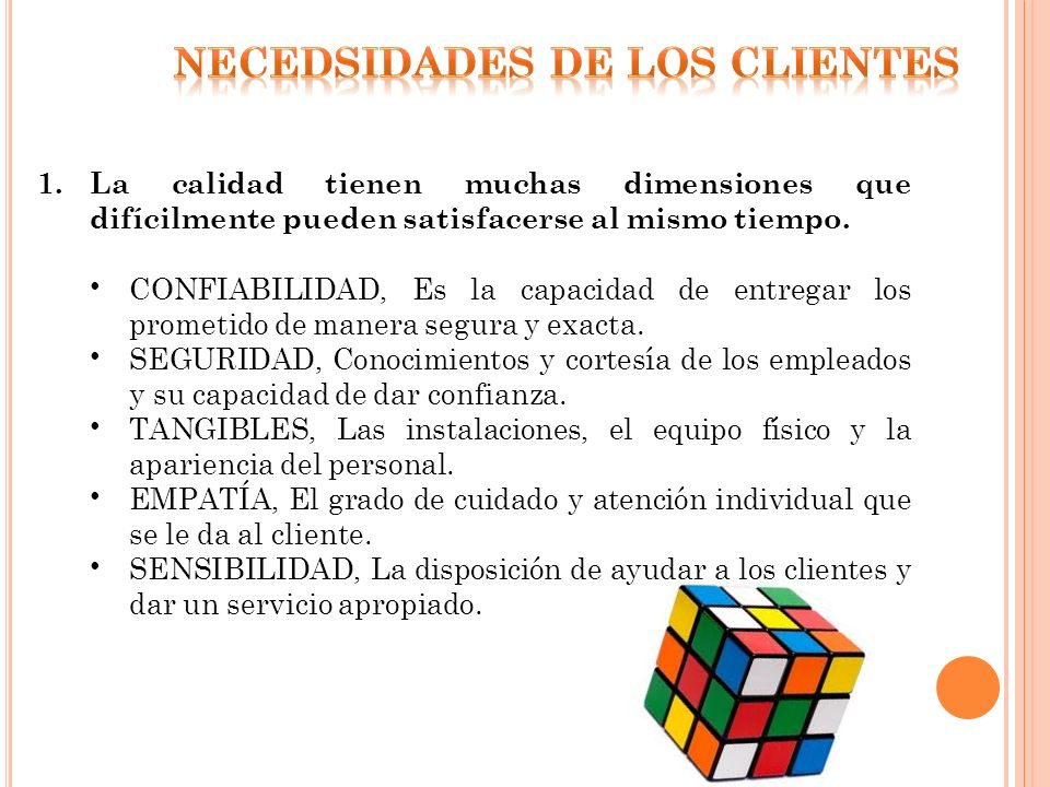 NECEDSIDADES DE LOS CLIENTES