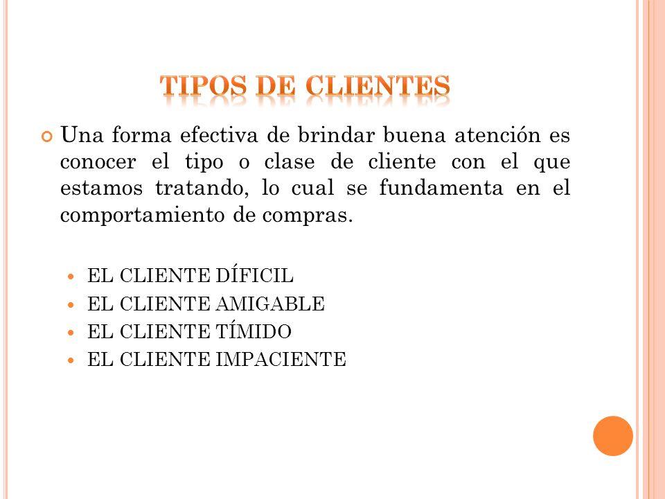 TIPOS DE clienteS