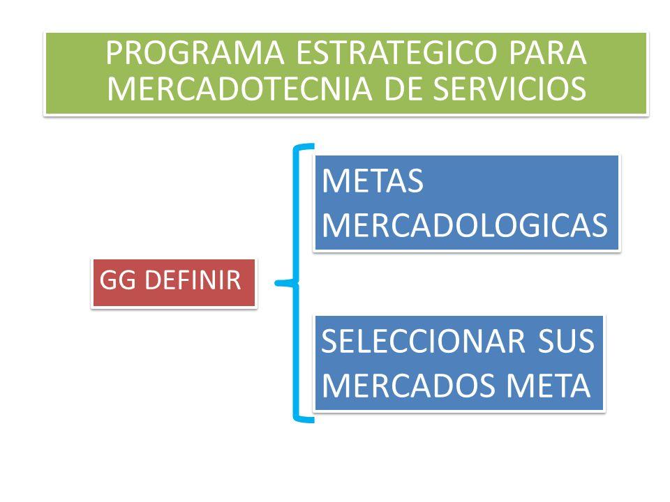 PROGRAMA ESTRATEGICO PARA MERCADOTECNIA DE SERVICIOS