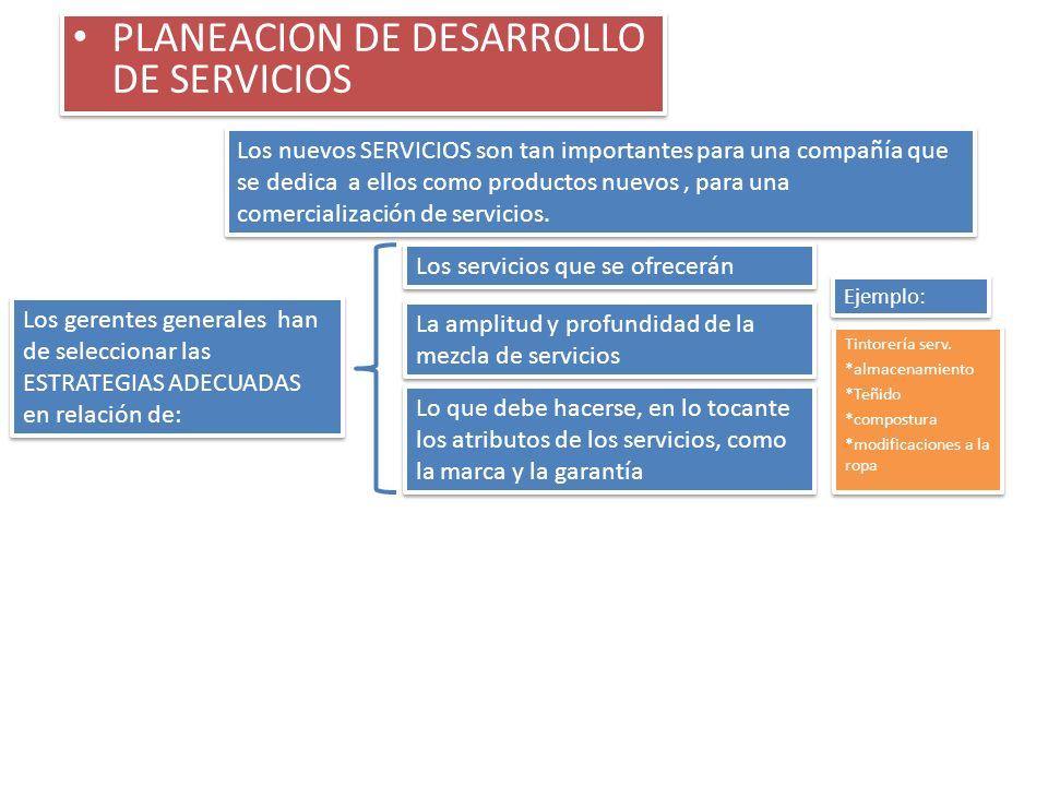 PLANEACION DE DESARROLLO DE SERVICIOS
