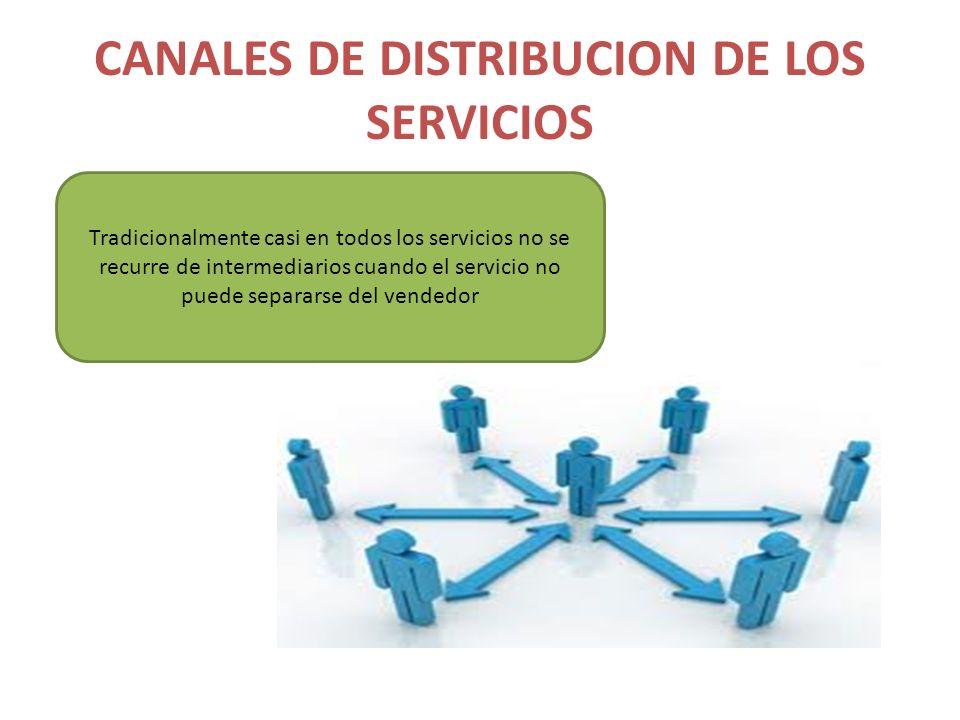CANALES DE DISTRIBUCION DE LOS SERVICIOS