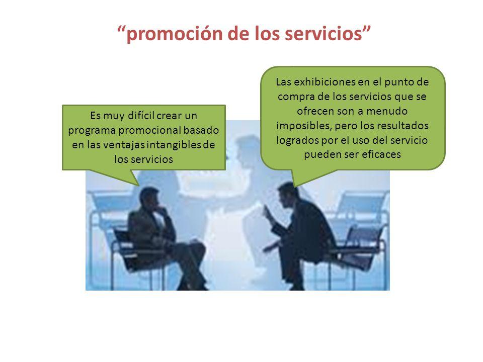 promoción de los servicios