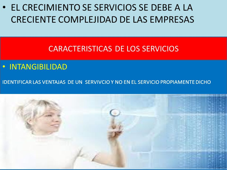 CARACTERISTICAS DE LOS SERVICIOS