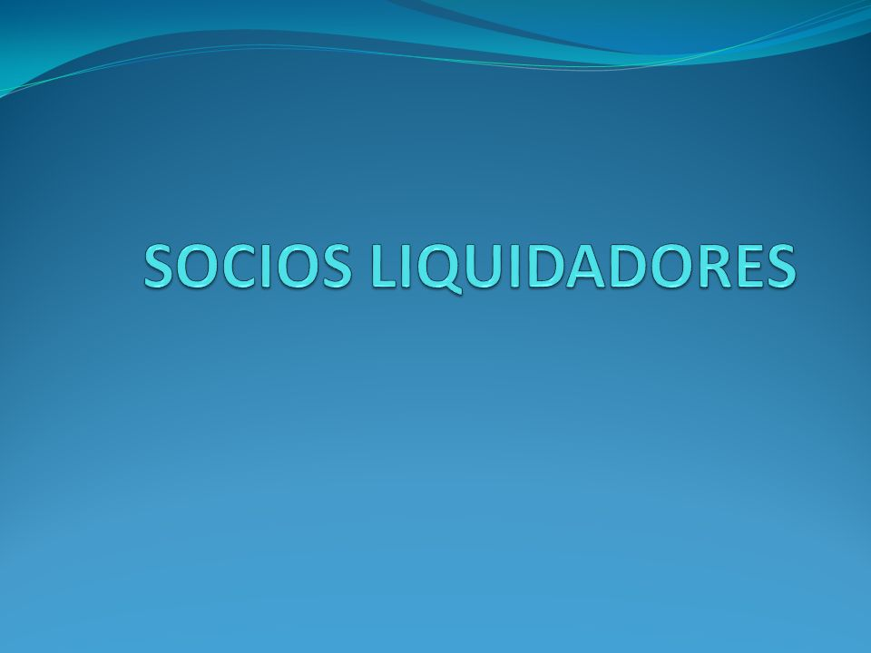 SOCIOS LIQUIDADORES