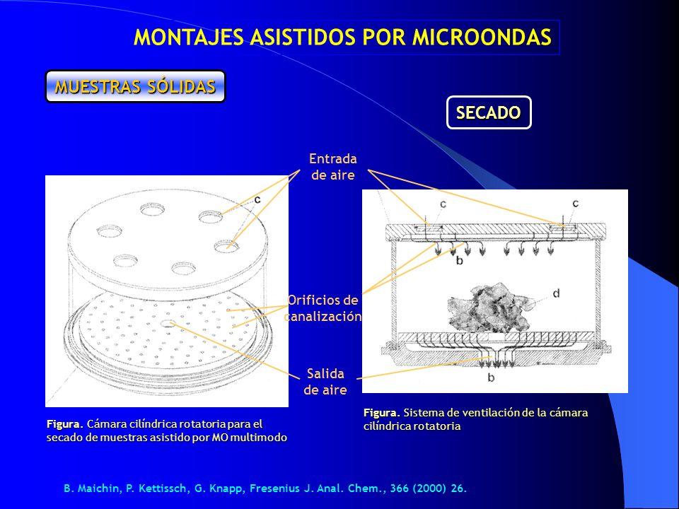 MONTAJES ASISTIDOS POR MICROONDAS Orificios de canalización