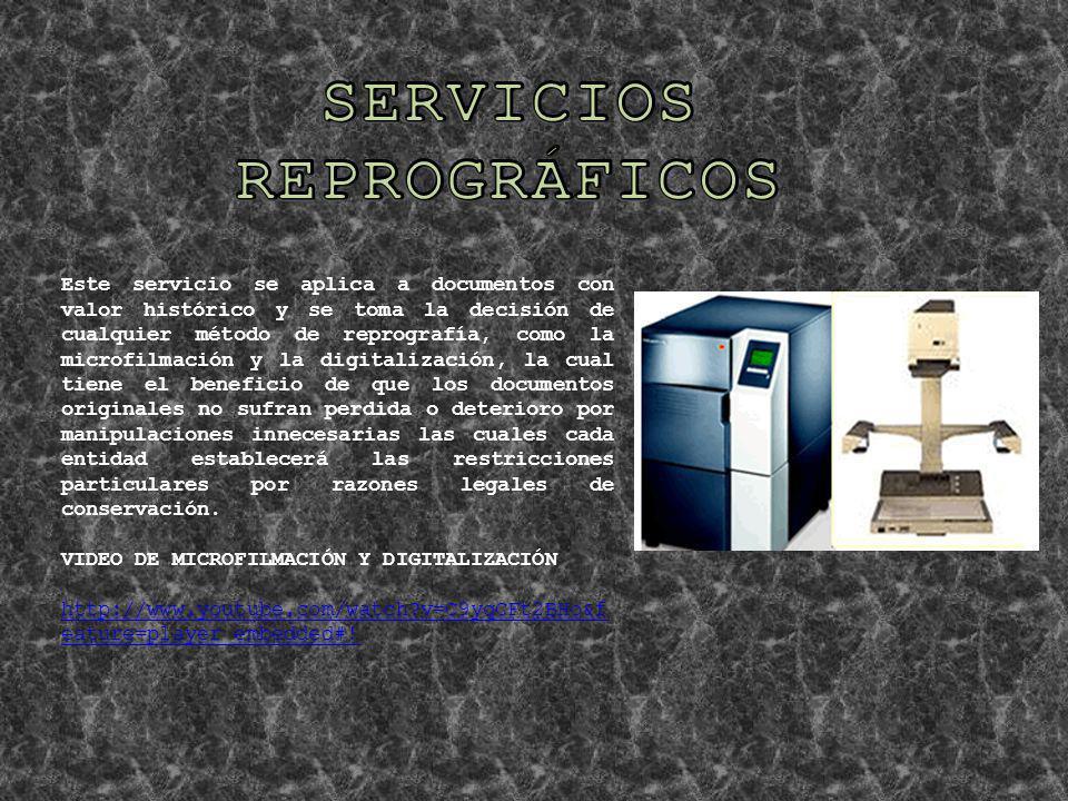 SERVICIOS REPROGRÁFICOS