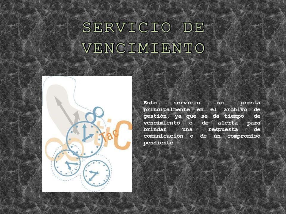 SERVICIO DE VENCIMIENTO