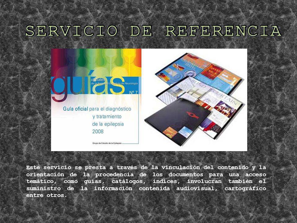 SERVICIO DE REFERENCIA
