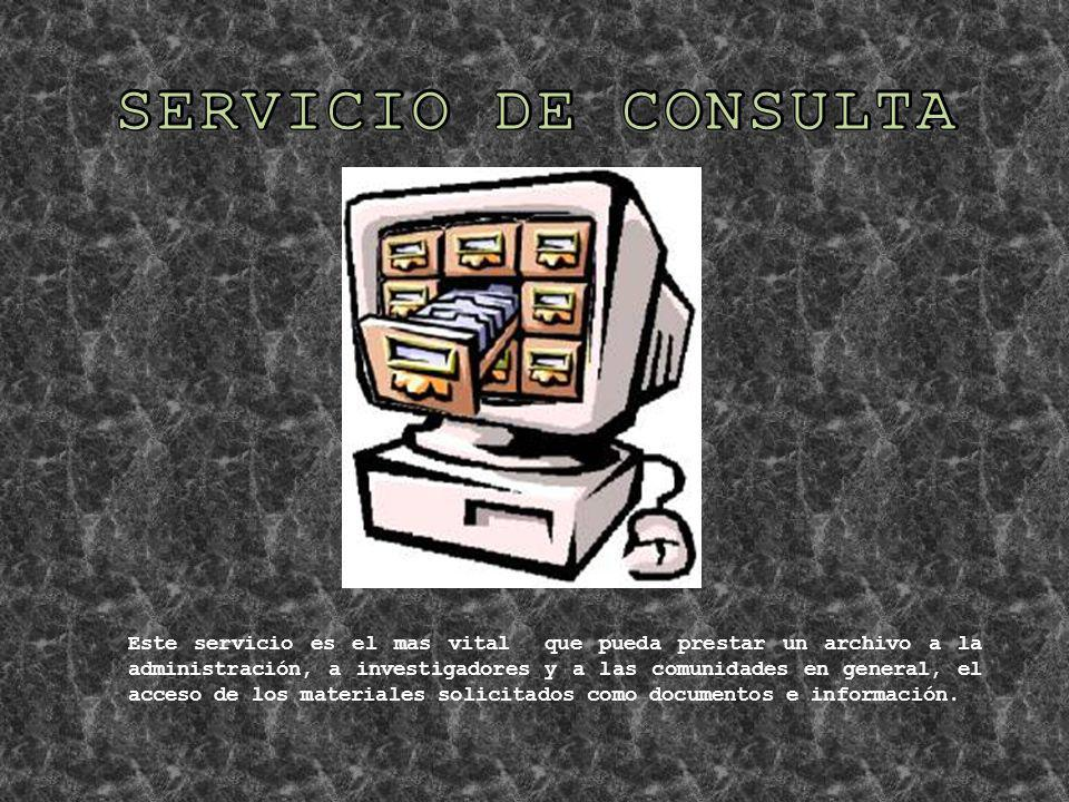 SERVICIO DE CONSULTA