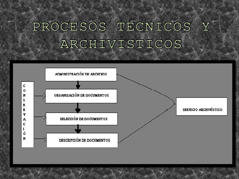 PROCESOS TÉCNICOS Y ARCHIVÍSTICOS